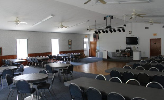 Concert style hall